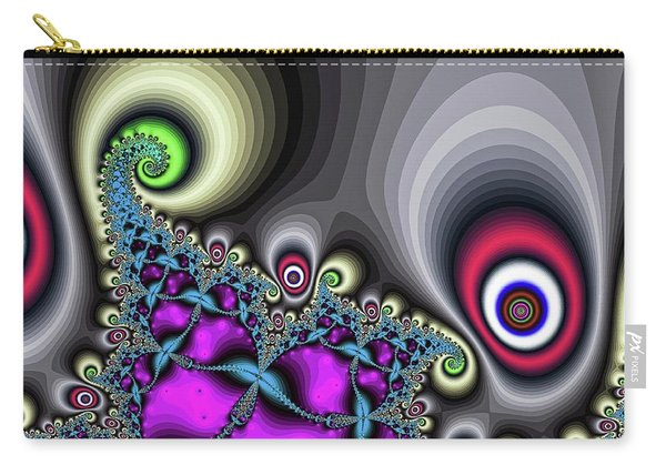 Carry-all Pouch featuring the digital art Red Circus Eyes by Don Northup