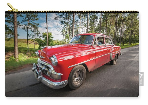Red Classic Cuban Car Carry-all Pouch