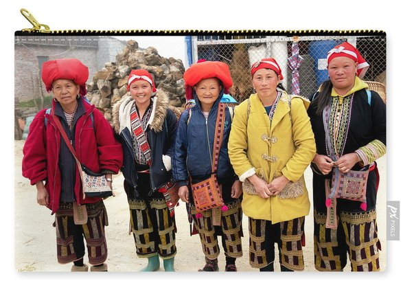 Red Dao Woman From Sa Pa, Vietnam Carry-all Pouch