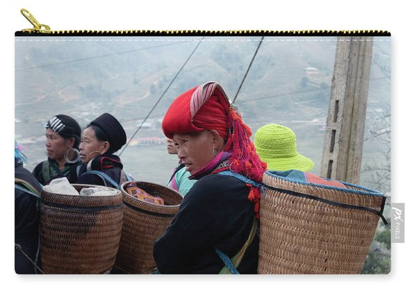 Red Dao Woman, Sapa, Vietnam Carry-all Pouch