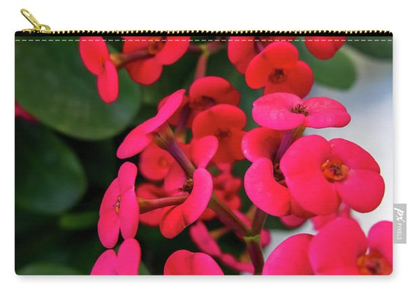 Red Flowers In Bloom Carry-all Pouch