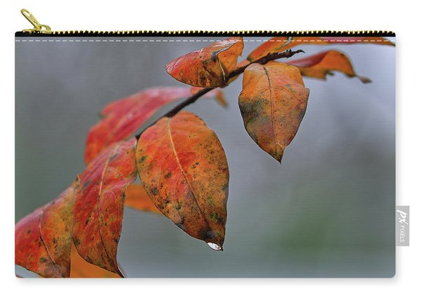 Red Leaves Of Winter Carry-all Pouch