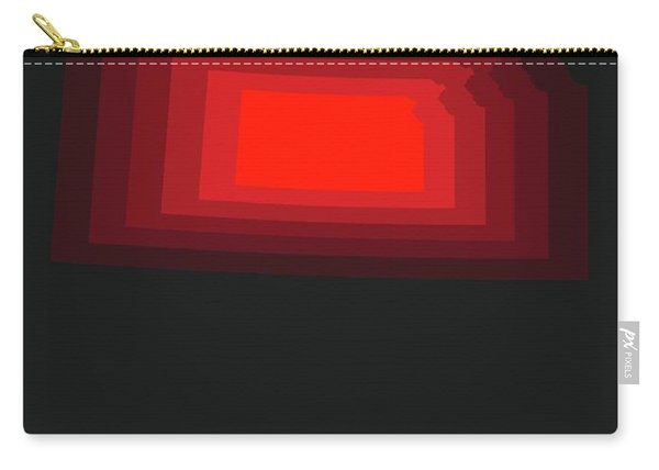 Red Map Of Kansas Carry-all Pouch