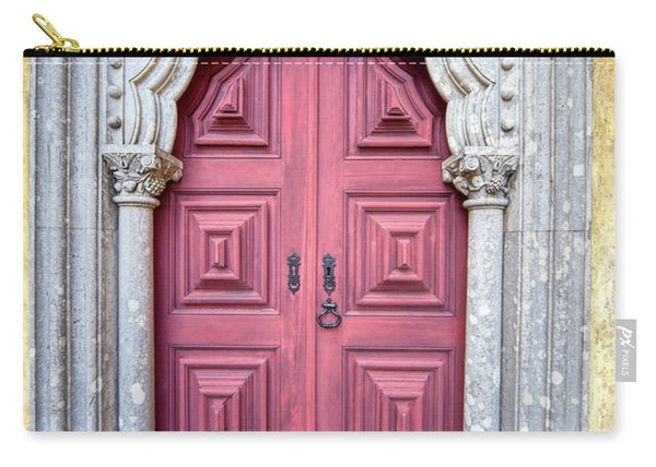 Red Medieval Door Carry-all Pouch