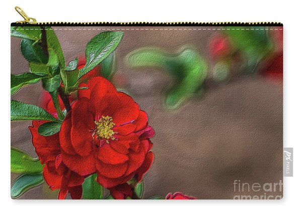 Red Quince Painterly Carry-all Pouch