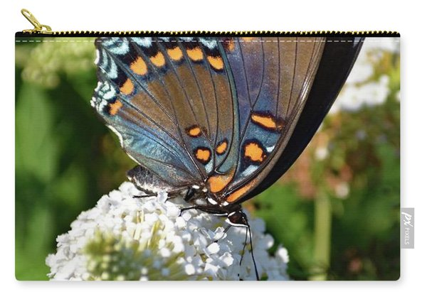 Red-spotted Purple On White Butterfly Bush Carry-all Pouch