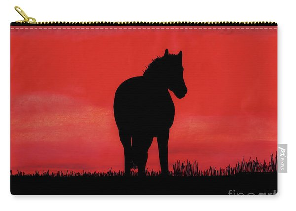 Red Sunset Horse Carry-all Pouch