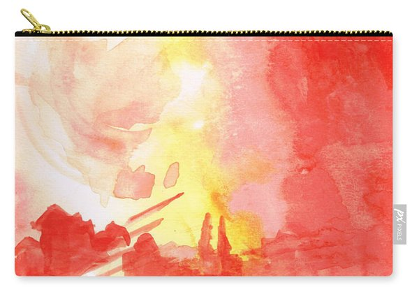 Red Village Abstract 1 Carry-all Pouch
