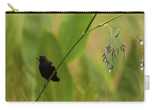 Red-winged Blackbird On Alligator Flag Carry-all Pouch