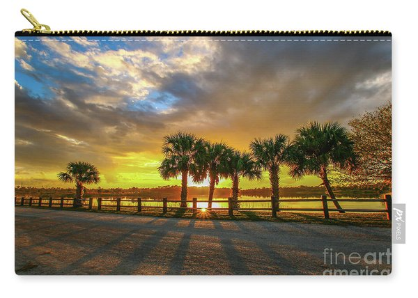 Carry-all Pouch featuring the photograph Reflected Sunburst by Tom Claud