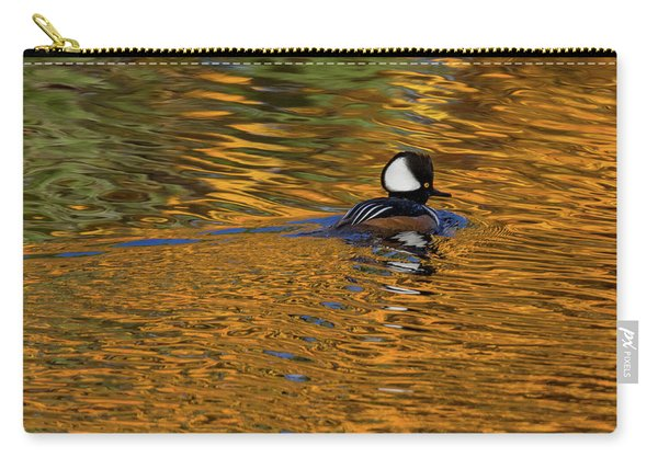 Reflecting With Hooded Merganser Carry-all Pouch