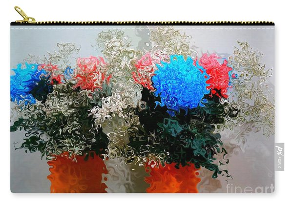 Reflection Of Flowers In The Mirror In Van Gogh Style Carry-all Pouch