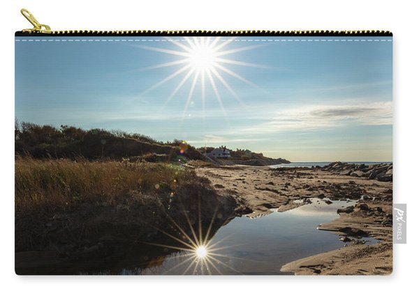 Reflections Of Autumn At The Beach Carry-all Pouch