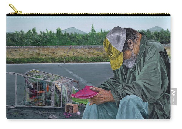 Carry-all Pouch featuring the painting Regret by Kevin Daly