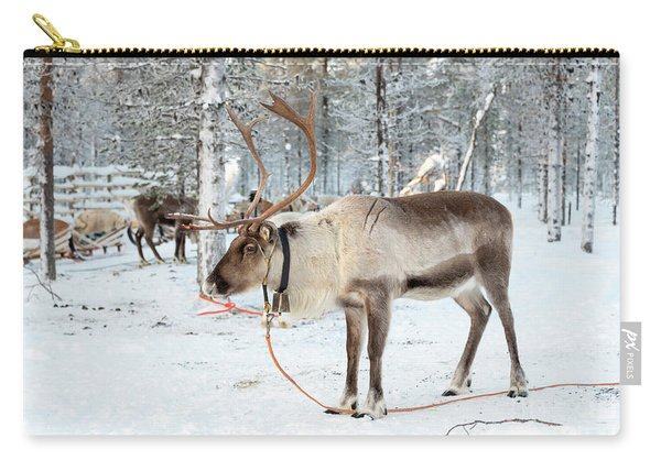 Reindeer In The Snow Carry-all Pouch