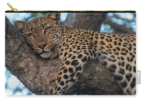 Relaxed Leopard Carry-all Pouch
