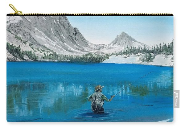 Carry-all Pouch featuring the painting Relaxing At Skelton by Kevin Daly