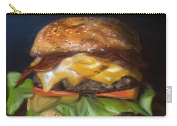 Carry-all Pouch featuring the pastel Renaissance Burger  by Fe Jones