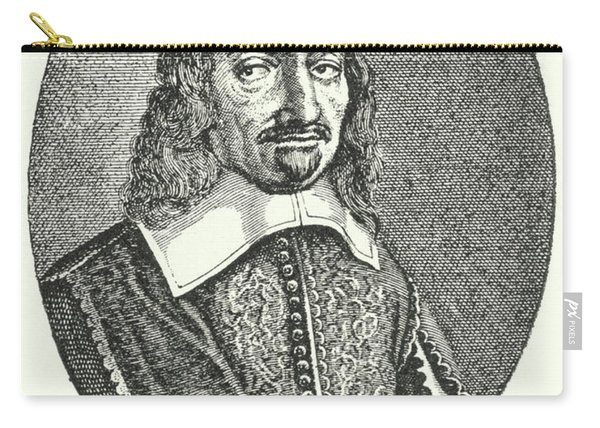 Rene Descartes, French Philosopher Engraving  Carry-all Pouch