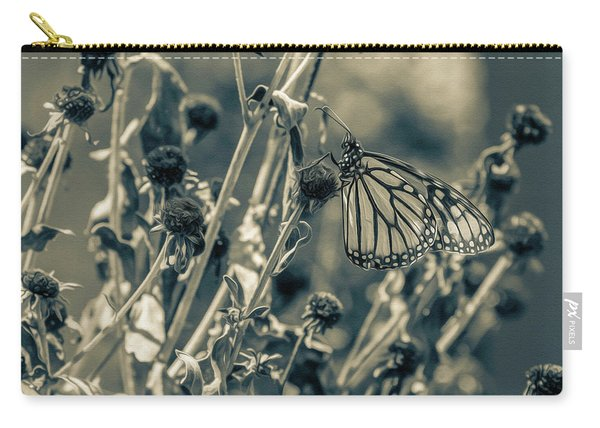 Resting Butterfly Bw Carry-all Pouch