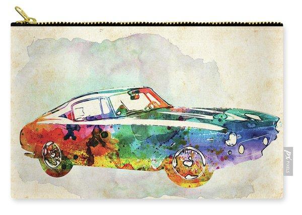 Retro Ferrari Colorful Watercolor Carry-all Pouch