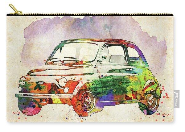 Retro Fiat Watercolor Carry-all Pouch