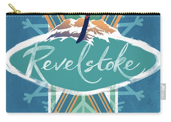 Revelstoke Ski Poster Carry-all Pouch