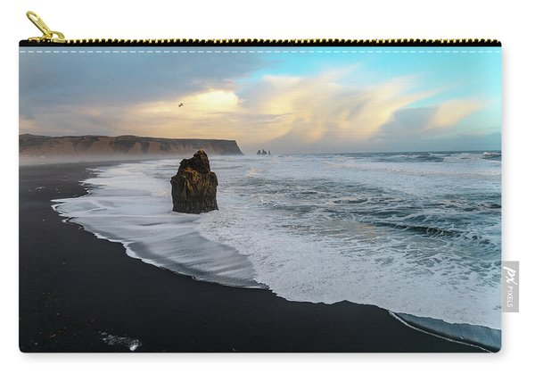 Reynisfjara Beach At Sunset Carry-all Pouch