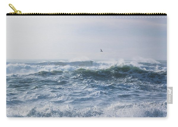 Reynisfjara Seagull Over Crashing Waves Carry-all Pouch