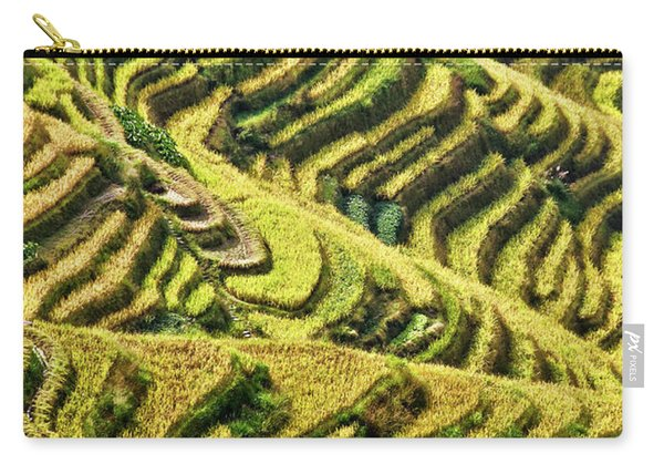 Rice Terraces In China Carry-all Pouch