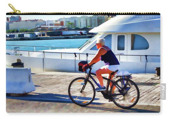Riding Through The Dock Carry-all Pouch