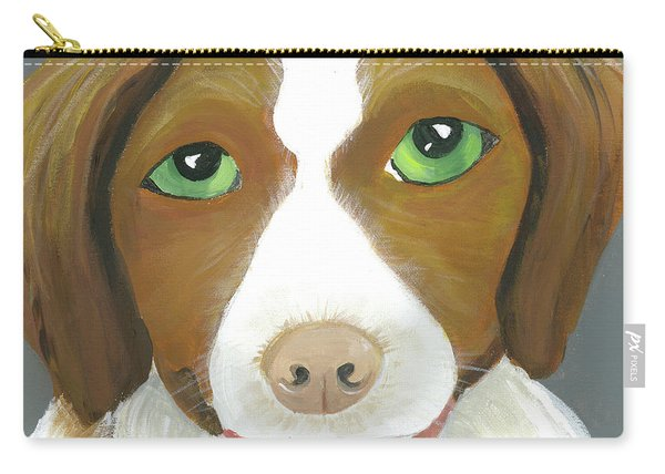 Carry-all Pouch featuring the painting Riley by Suzy Mandel-Canter