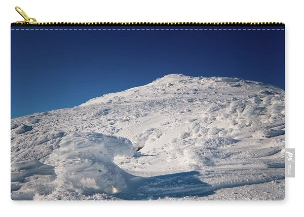 Carry-all Pouch featuring the photograph Rime And Snow, And Mountain Trolls. by Jeff Sinon