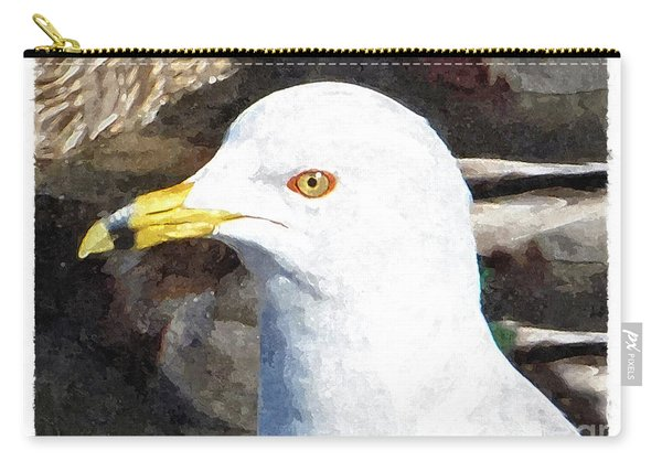 Ringbilled Gull Portrait Carry-all Pouch
