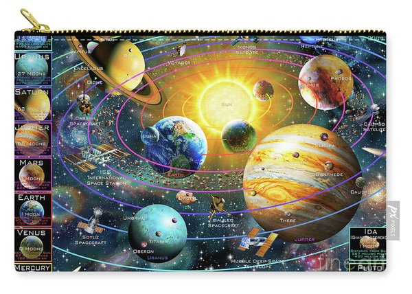 Ringed Solar System Carry-all Pouch