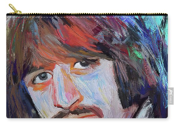 Ringo Star The Beatles Artistic Portrait Carry-all Pouch