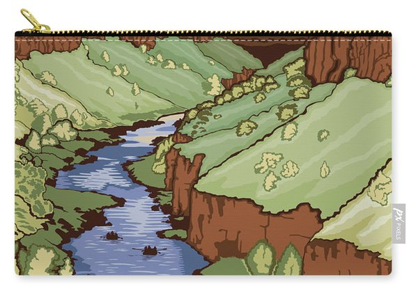 Rio Grande Del Norte National Monument, New Mexico Travel Poster Carry-all Pouch
