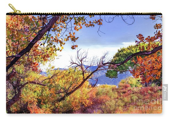 Carry-all Pouch featuring the photograph Rio Grande Open Space by Susan Warren