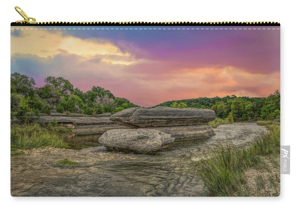 River Erosion At Sunset Carry-all Pouch