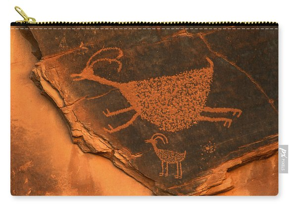 Rock Art At Eye Of The Sun Arch Carry-all Pouch