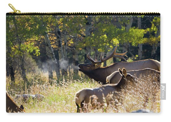 Rocky Mountain Bull Elk Bugeling Carry-all Pouch