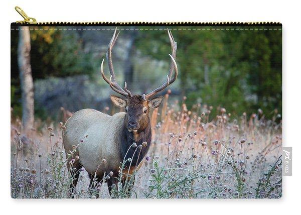 Rocky Mountain Wildlife Bull Elk Sunrise Carry-all Pouch