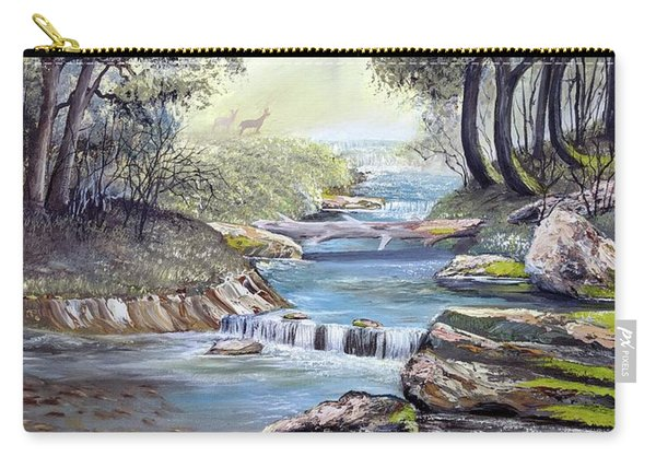 Carry-all Pouch featuring the painting Rocky Stream by Deleas Kilgore