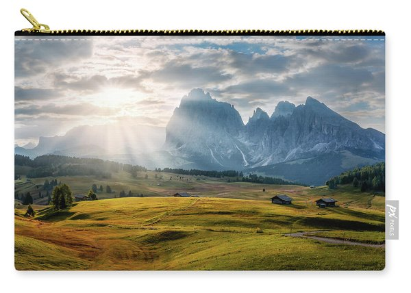 Rolling Hills Of Alpe Di Siusi Carry-all Pouch