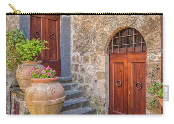 Romantic Courtyard Of Tuscany Carry-all Pouch