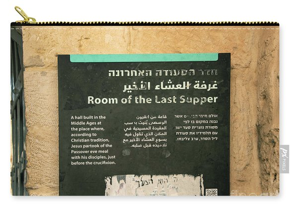 Carry-all Pouch featuring the photograph Room Of The Last Supper by Mae Wertz