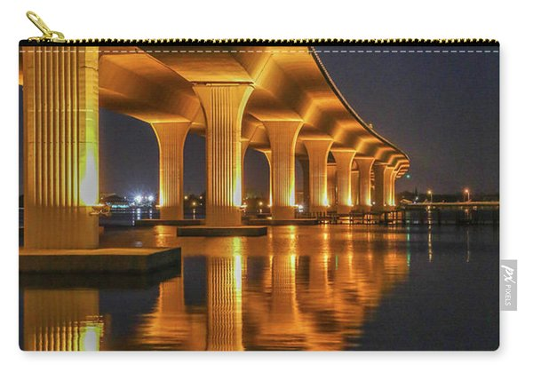 Carry-all Pouch featuring the photograph Roosevelt Bridge Portrait by Tom Claud