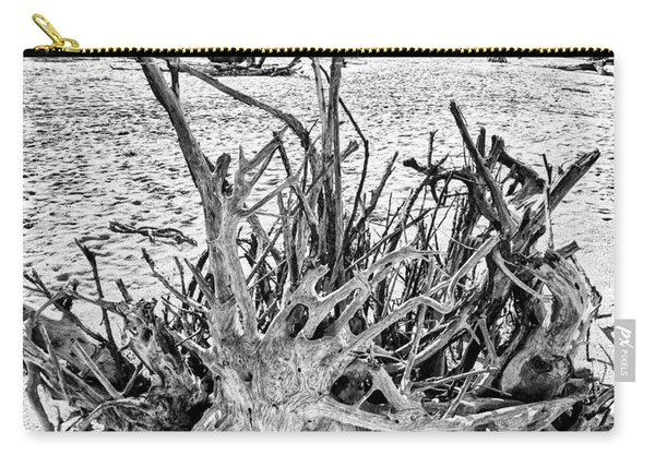 Rooted In Black And White Carry-all Pouch