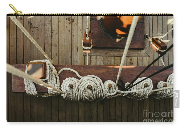 Ropes To Hold The Sails Of An Old Sailboat Rolled. Carry-all Pouch