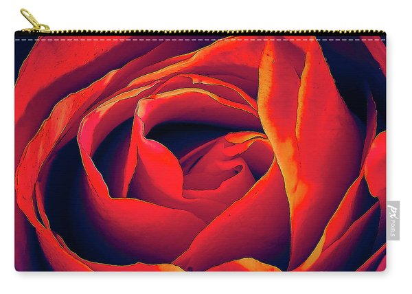 Rose Ablaze Carry-all Pouch
